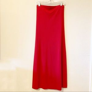 JCREW Strapless Red Tube Dress.
